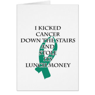 Cancer Bully (Teal Ribbon) Card