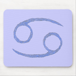 Cancer. Cancerian Zodiac Astrological Sign. Blue Mouse Pad