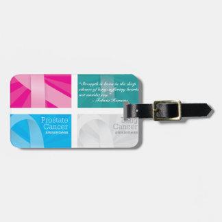 cancer cards bag tag