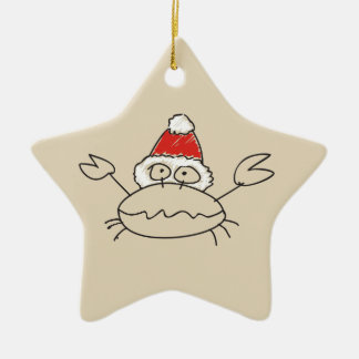 Cancer Christmas Funny Astrology Star Red Cool Ceramic Ornament