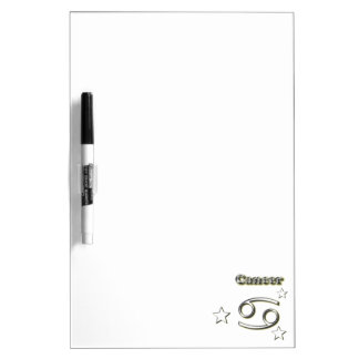 Cancer chrome symbol dry erase board