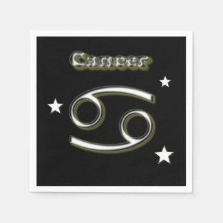 Cancer chrome symbol paper napkin