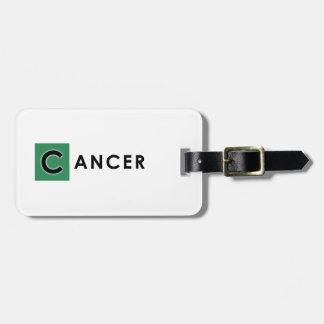 CANCER COLOR BAG TAG