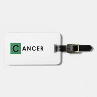 CANCER COLOR LUGGAGE TAG