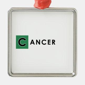 CANCER COLOR METAL ORNAMENT