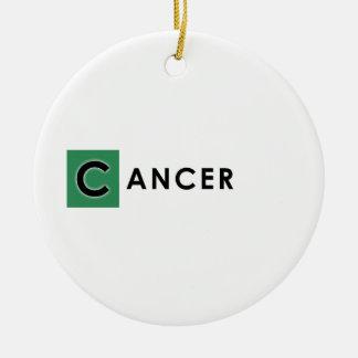 CANCER COLOR ROUND CERAMIC DECORATION