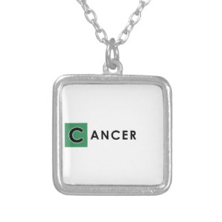 CANCER COLOR SILVER PLATED NECKLACE