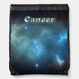 Cancer constellation drawstring bag