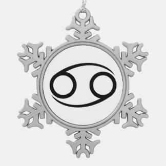 cancer crab greek astrology horoscope zodiac pewter snowflake decoration
