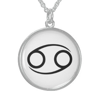 cancer crab greek astrology horoscope zodiac sterling silver necklace