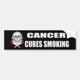 Cancer Cures Smoking Bumper Sticker