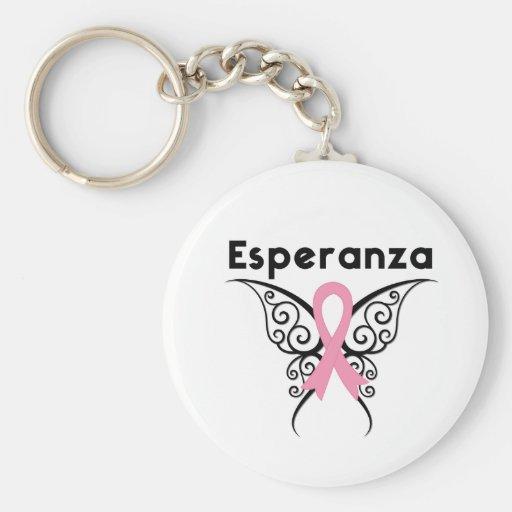 Cancer de Mama - Esperanza Key Chain