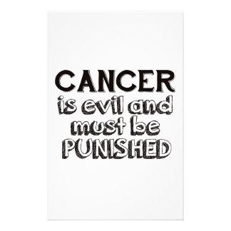 cancer design custom stationery