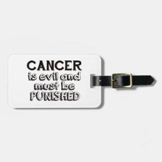 cancer design luggage tag
