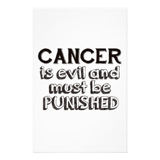 cancer design stationery