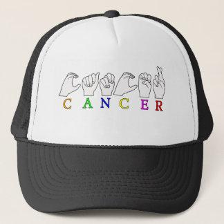 CANCER FINGERSPELLED ASL NAME ZODIAC SIGN TRUCKER HAT
