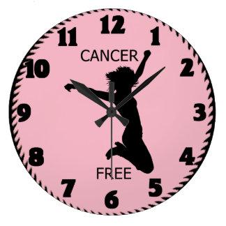 CANCER FREE LARGE CLOCK