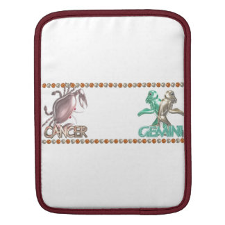 Cancer Gemini astrology friendship iPad Sleeve