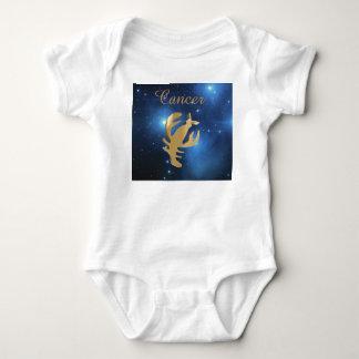 Cancer golden sign baby bodysuit