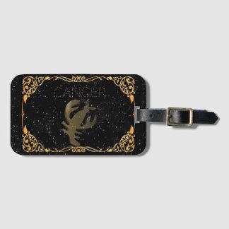 Cancer golden sign bag tag