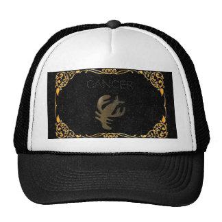 Cancer golden sign cap