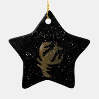 Cancer golden sign ceramic star decoration