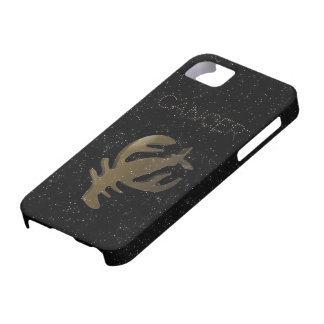 Cancer golden sign iPhone 5 cover