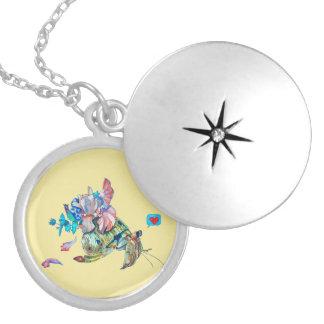 Cancer hermit locket necklace