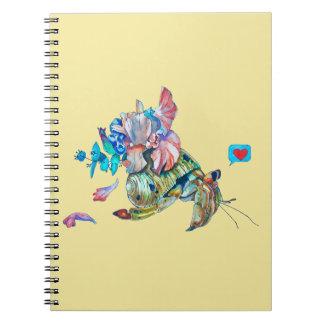 Cancer hermit spiral notebook