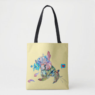 Cancer hermit tote bag