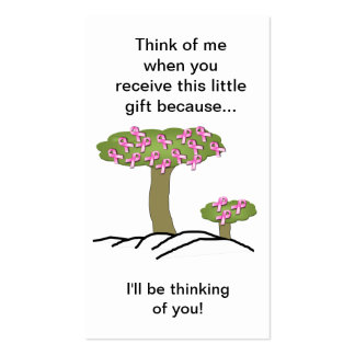 Cancer I'll Be Thinking Of You Bookmark Pack Of Standard Business Cards
