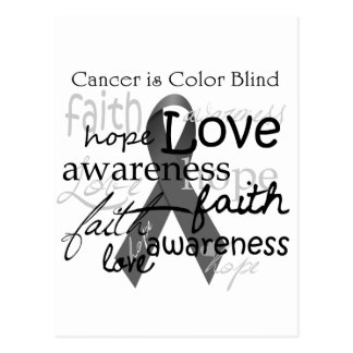 Cancer is Color BLind Postcard