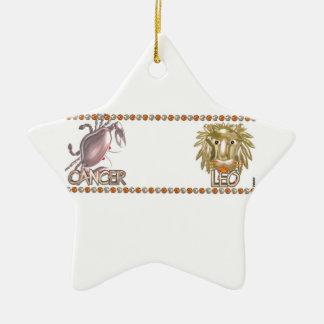 Cancer Leo astrology zodiac friendship Ornaments