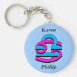 Cancer & Libra PkBl Keychain
