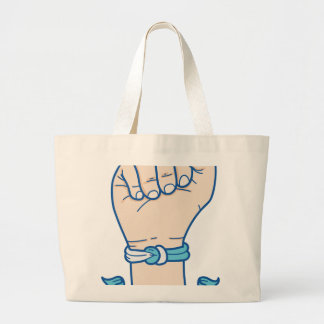 cancer men bracelet-01 large tote bag