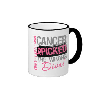 Cancer Picked The Wrong Diva - Breast Cancer Mug