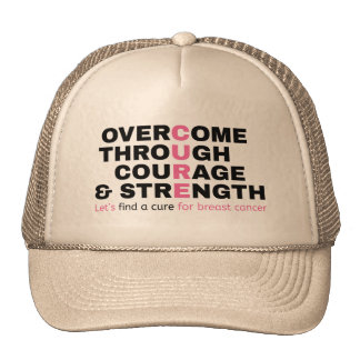 Cancer quote pink typography let's find a cure cap