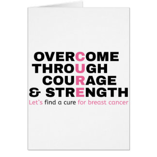 Cancer quote pink typography let's find a cure card
