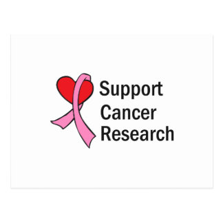 CANCER RESEARCH POSTCARD