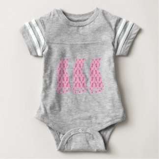 Cancer-Ribbon-CATS Baby Bodysuit