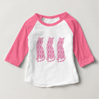 Cancer-Ribbon-CATS Baby T-Shirt