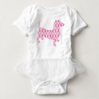 Cancer-Ribbon-Doxie Baby Bodysuit