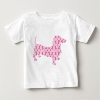 Cancer-Ribbon-Doxie Baby T-Shirt