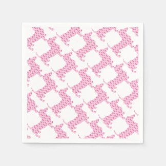 Cancer-Ribbon-Doxie Paper Napkin