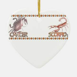 Cancer Scorpio friendship zodiac astrology Ceramic Ornament