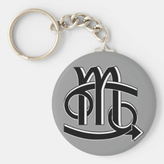 Cancer Scorpio Partners bw Key Chains