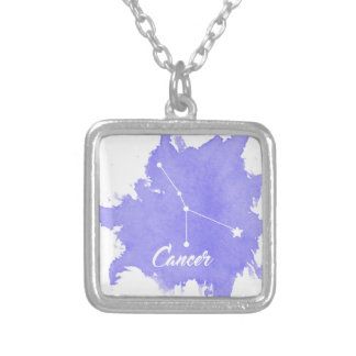Cancer Star Sign Pendant Square Necklace