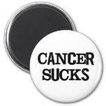 Cancer Sucks 6 Cm Round Magnet
