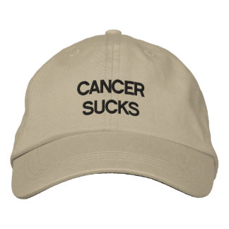Cancer Sucks! Embroidered Baseball Caps
