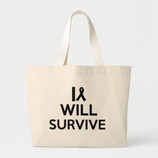 cancer survive large tote bag